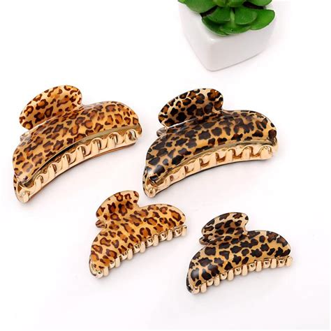 wholesale hair claw clips wholesale hair ornaments leopard claw clip headwear
