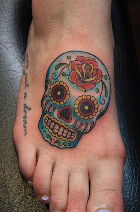 small skull tattoo small sugar skull design http