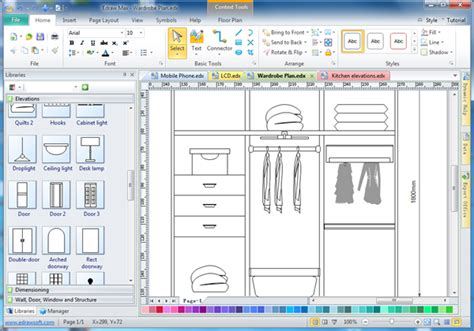 Kitchen Cupboards Design Software cabinet design software edraw