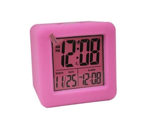 alarm clocks for rooms pink cubed lcd digital alarm clock room alarm clock
