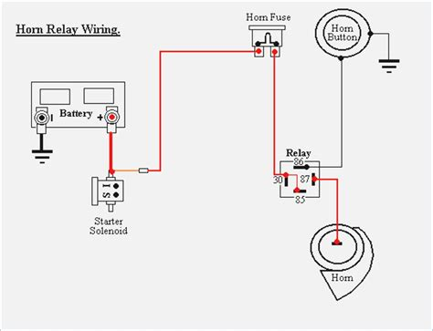 horn relay wiring diagram free wiring diagram