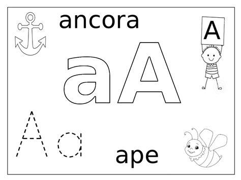 immagini delle lettere dell alfabeto carte didattiche alfabeto colorare