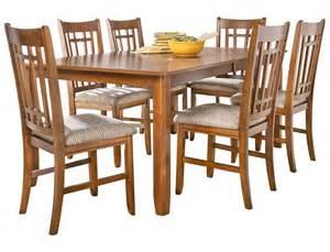 7pc Dining Room Sets slumberland santa rosa collection 7pc oak dining set