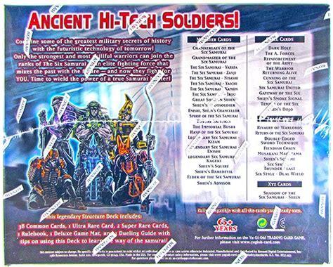 yugioh world structure deck card list konami yu gi oh samurai warlords structure deck box da