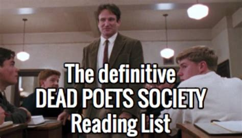 Novel Dead Poets Society a quot dead poets society quot reading list book recommendations and reviews book riot