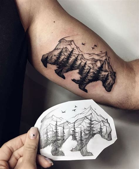 30 epic mountain tattoo ideas million feed