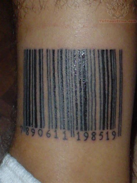 barcode tattoos barcode images designs