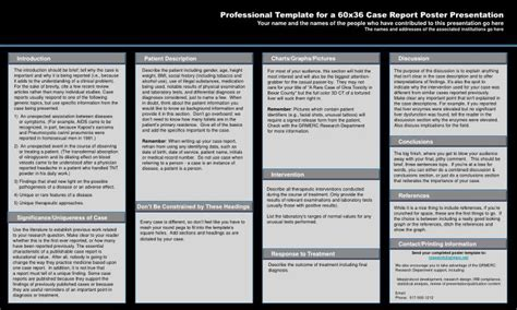 Ppt Professional Template For A 60x36 Case Report Poster Report Poster Presentation Template