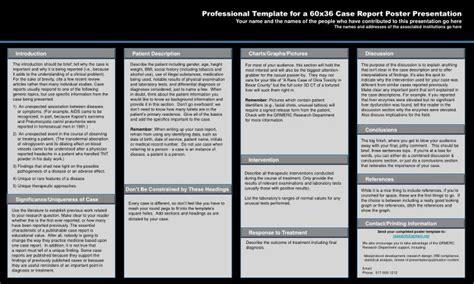 medical case report presentation template printable design