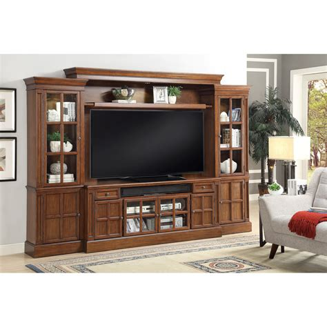 parker house furniture parker house churchill 4 piece entertainment wall with 72 quot console fashion furniture