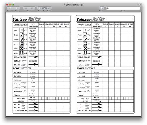 printable board game sheets printable sheet yahtzee score card search results