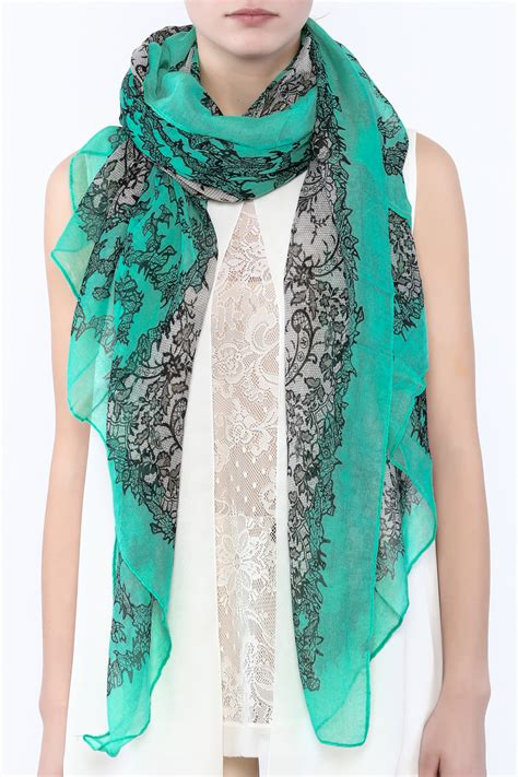 ruby s teal pattern scarf from indiana by athena s fashion