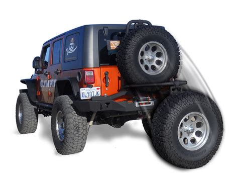 Jeep Wrangler Unlimited Rear Bumper Olympic 4x4 Products Smuggler Rear Bumper With Duo