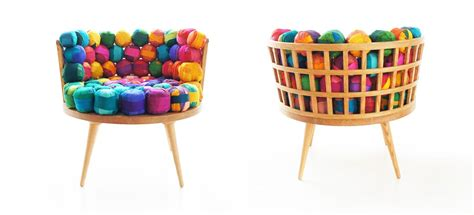 colorful recycled furniture home inspiration