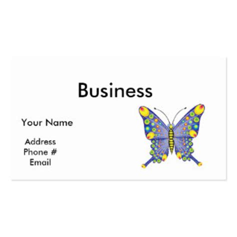 blue butterfly business cards 2 000 blue butterfly