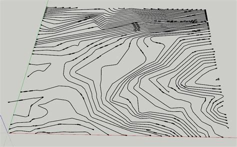 topography in sketchup creating a topography mesh from flat contours in sketchup tutorial sketchup tutorials