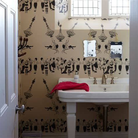 funky bathroom wallpaper ideas cloakroom ideas ideal home
