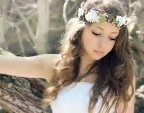 flower headband flower crown millinery leafs woodland wedding hair by deloop