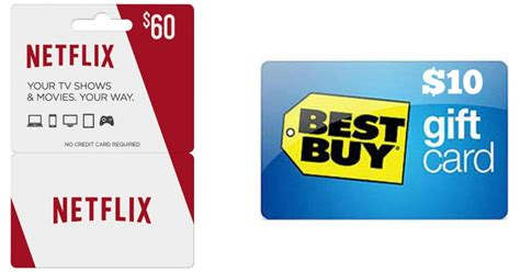 Gift Card For Netflix - 60 netflix gift card and 10 best buy gift card only 60 shipped hip2save