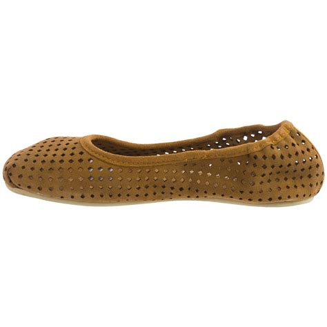 suede ballet flats shoes otz shoes semis perforated suede ballet flats for