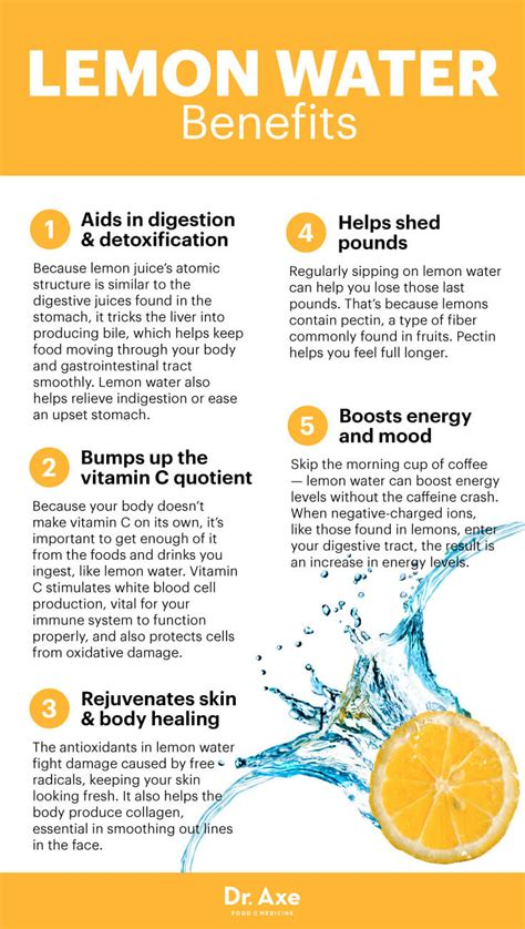 Can You Use Lemon Juice For Detox Water by Benefits Of Lemon Water Detox Your And Skin Dr Axe