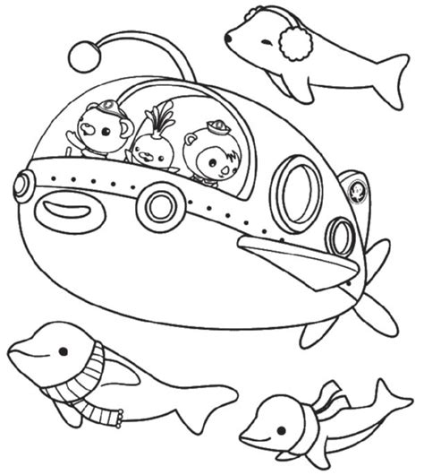 Octonauts Characters Coloring Pages Printable Kids Octonauts Printable Coloring Pages
