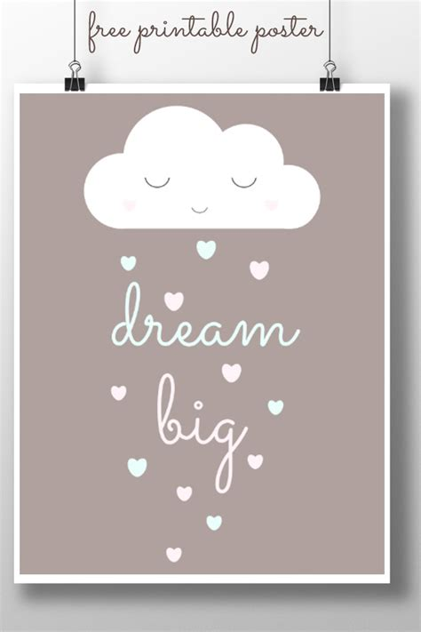 printable posters download dream big printable poster childhood101