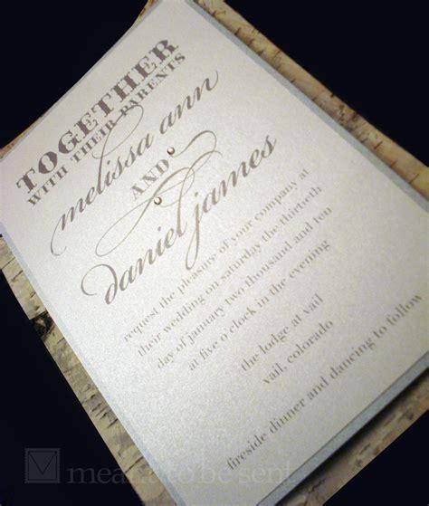 birch tree wedding invitations custom invitations