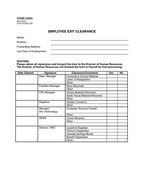 employee exit form template best photos of employment exit forms employee exit