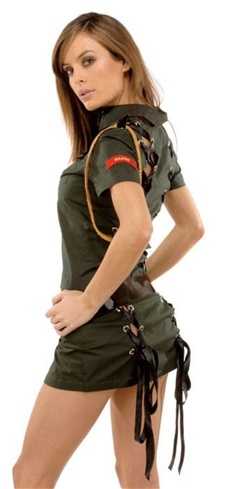 army seductress sexy soldier girl costume