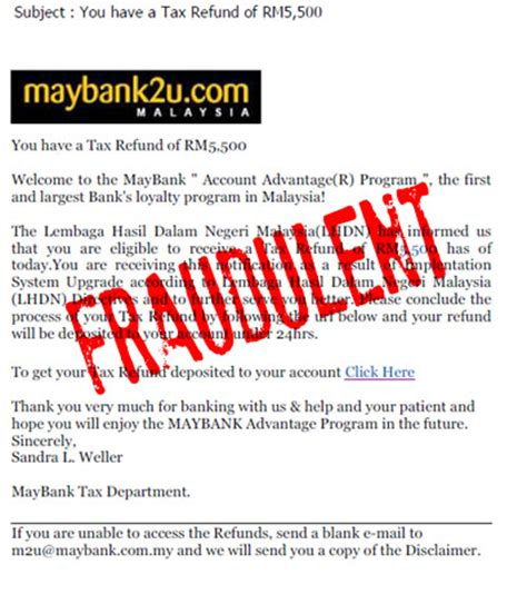 Maybank Letter Of Credit Phishing Alert Gt Maybank2u Singapore