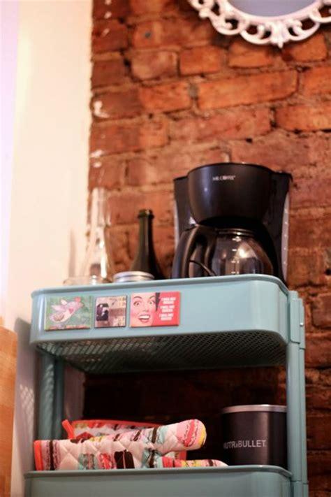Kitchen Cart Coffee Station Studioonsullivan Coffee Cart Small Space Storage Solution