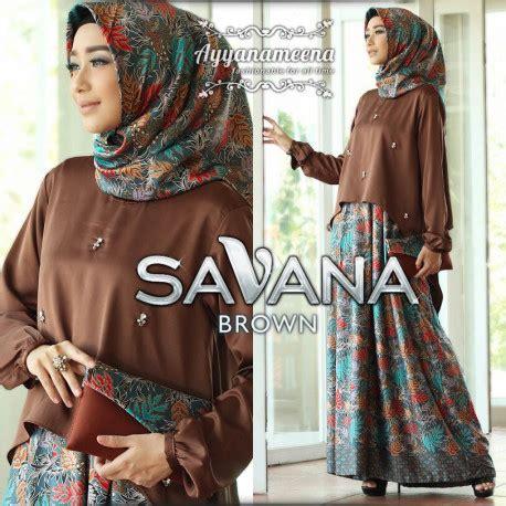 Muslim Savana savana brown pusat grosir baju muslim