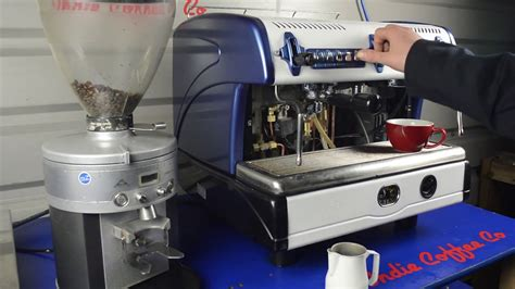 Handmade Espresso Machine - la spaiale s custom espresso machine blue with and