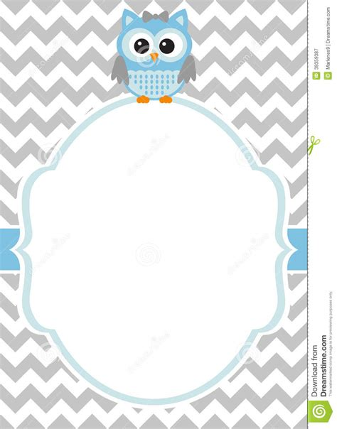Baby Card Template by Baby Shower Baby Boy Invitation Card Template Stock