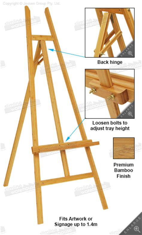 How To Make A Paper Easel - this easel is made of bamboo a durable unit for