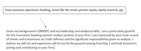 cover letter analyst investment banking