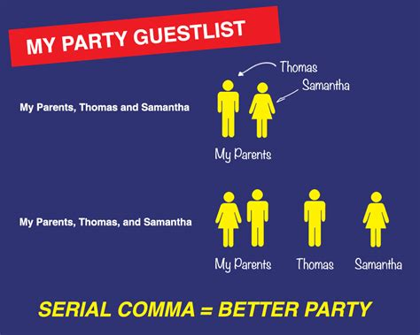 serial use the serial oxford comma when and why to use it ink on