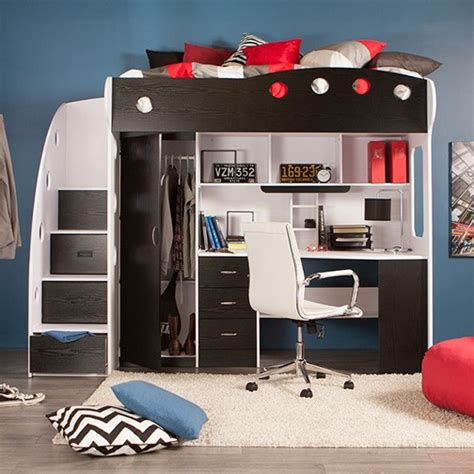nika loft bed cream black kids bedroom jysk canada