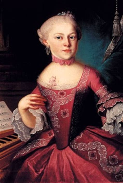biography of maria anna mozart mozart s music happy birthday nannerl