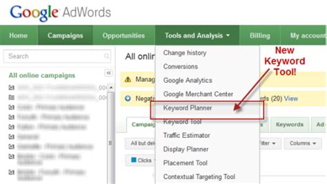 Google Keyword Planner Google Adwords Google Has Limited Keyword Data To Only Advertisers Adwords Caign Template