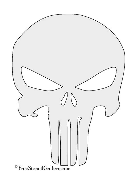punisher template punisher skull symbol stencil free stencil gallery