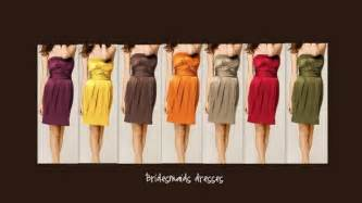 fall dress colors bridesmaid colors dress fall wedding bridesmaid dresses
