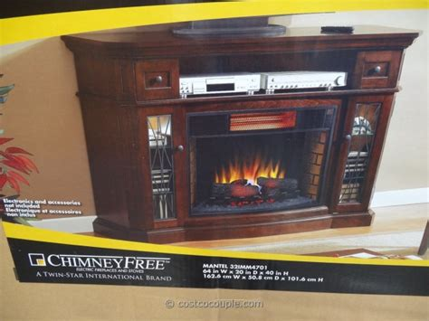 Electric Fireplace Costco Media Mantel Infrared Fireplace