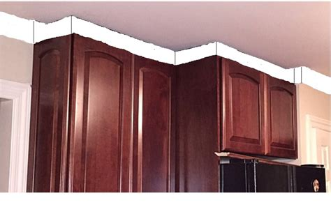 Cabinet Transition by Kitchen Remodel Crown Molding Awkward Transition