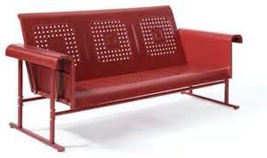 furniture glider crosley furniture veranda sofa glider in coral