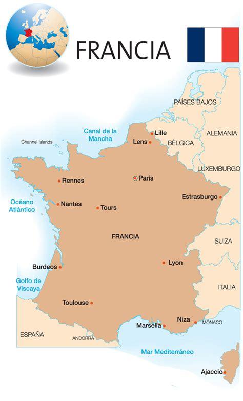 Imagenes Satelitales De Francia | mapa de francia icarito
