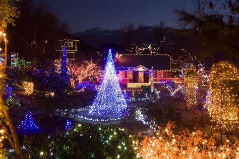 Winter Garden Aglow Boise november events at the idaho botanical garden