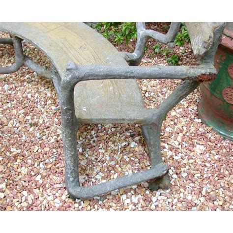 cement garden bench curved tree branch cement garden bench at 1stdibs