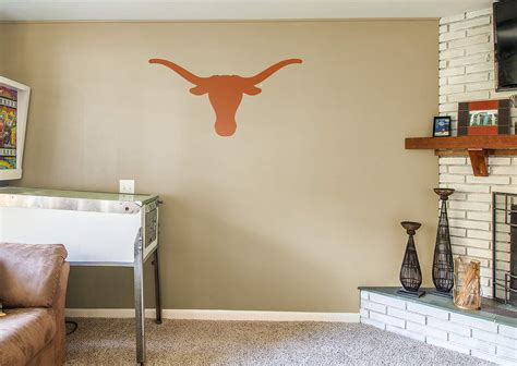 texas longhorn home decor texas longhorns logo wall decal shop fathead 174 for texas